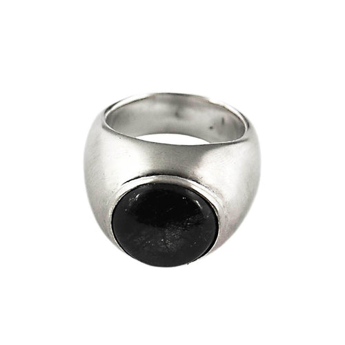 Sterling Silver & Black Quartz Wicked Ring ,[product vendor],JewelStreet
