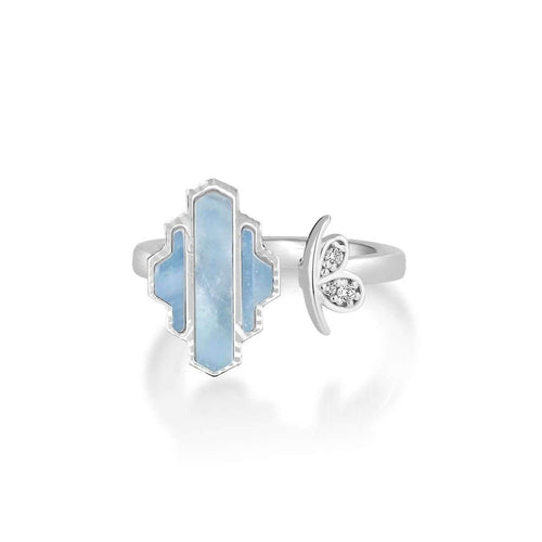 High Line Collection Ring Blue Mother of Pearl ,[product vendor],JewelStreet