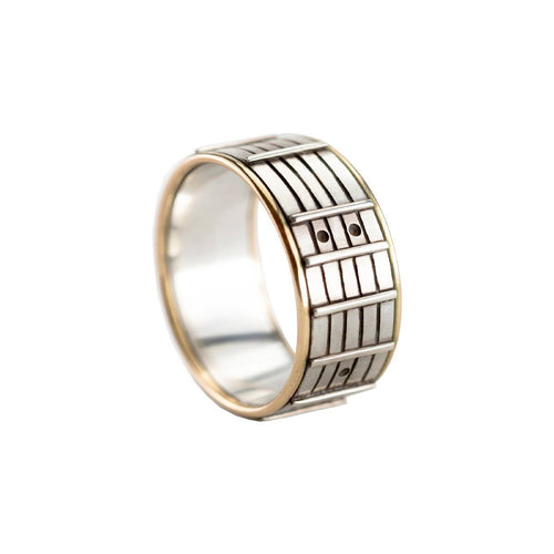 Sterling Silver Fretboard Ring ,[product vendor],JewelStreet