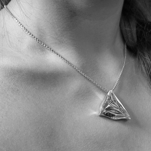 Sterling Silver Glacier Pendant Necklace ,[product vendor],JewelStreet