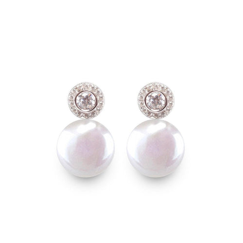 Halo Coin Pearl Earrings-Earrings-ORA Pearls-JewelStreet
