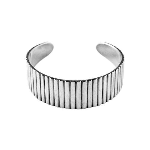 Sterling Silver Industrial Cuff Bangle ,[product vendor],JewelStreet