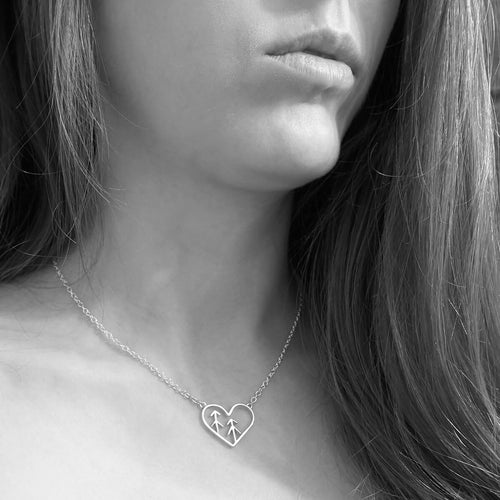 Sterling Silver Love The Forest Necklace ,[product vendor],JewelStreet