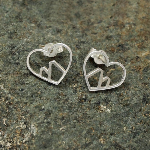 Sterling Silver Love The Mountains Earrings ,[product vendor],JewelStreet