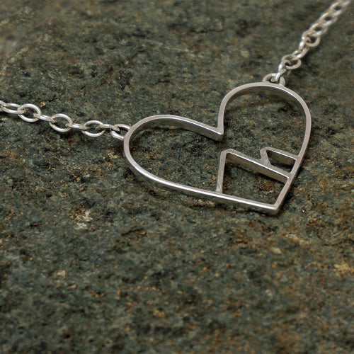 Sterling Silver Love The Mountains Necklace ,[product vendor],JewelStreet