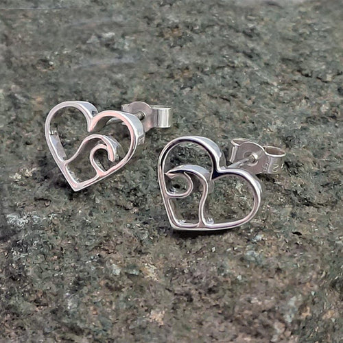 Sterling Silver Love The Ocean Earrings ,[product vendor],JewelStreet