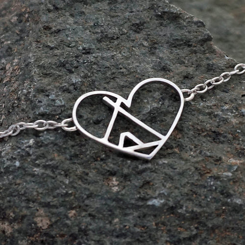 Sterling Silver Love The Outdoors Bracelet ,[product vendor],JewelStreet