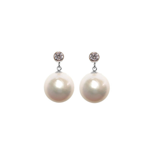 Lumen Pearl Earrings - Sterling Silver-Earrings-ORA Pearls-JewelStreet