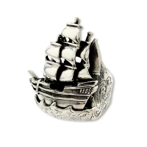 Ship ring-Rings-Metal Couture-JewelStreet