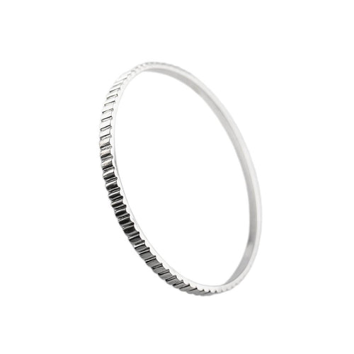 Sterling Silver Skinny Industrial Bangle ,[product vendor],JewelStreet