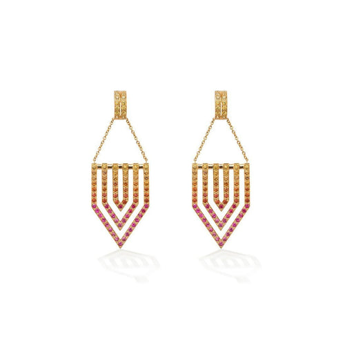 Sunset Chevron Earrings-Earrings-Robinson Pelham-JewelStreet