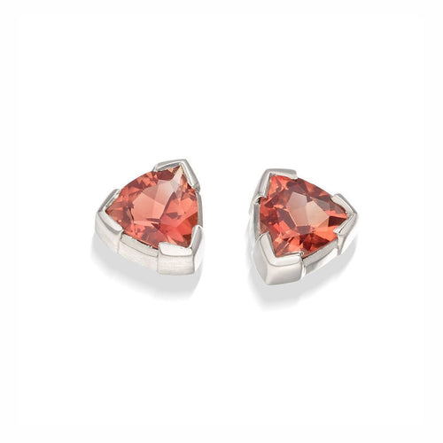 Sunstone Trillion earrings-Earrings-Justin Richardson-JewelStreet