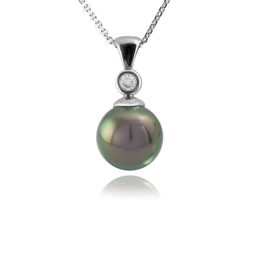 Tahitian Pearl & Diamond Pendant-Necklaces-Jupp Fine Jewellery-JewelStreet