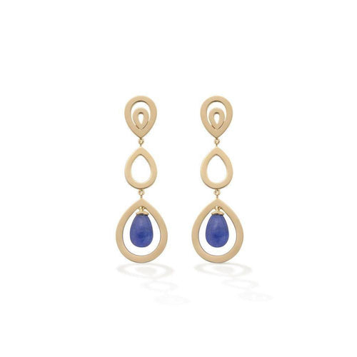 Tanzanite Pyrus Earrings-Earrings-Robinson Pelham-JewelStreet