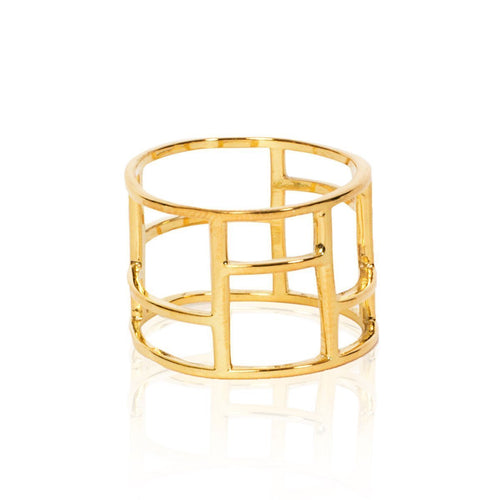 The Gold Frame Ring-Rings-Xiaohe Shen-JewelStreet