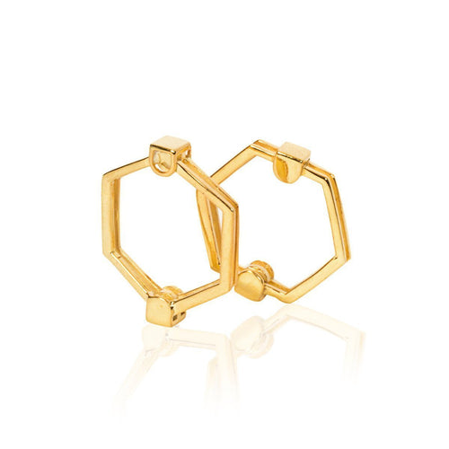 The Gold Hexagon Ring-Rings-Xiaohe Shen-JewelStreet