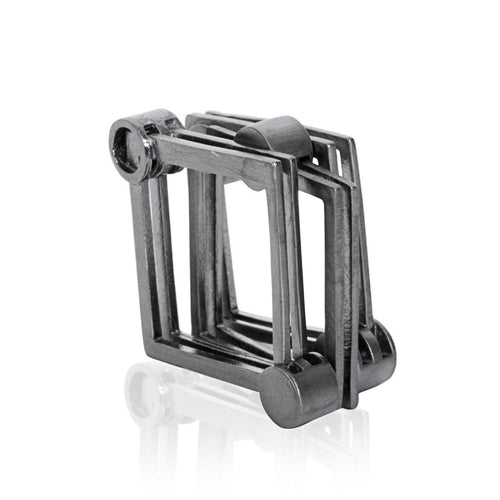 The Steel Square Ring-Rings-Xiaohe Shen-JewelStreet