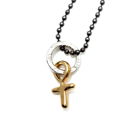 Totem and Man Cross Pendant Gold Plated ,[product vendor],JewelStreet