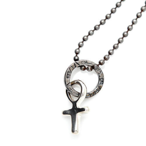 Totem and Man Cross Pendant Silver ,[product vendor],JewelStreet