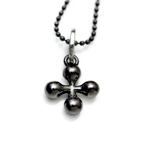 Totem and Man Four Pronged Symbol Pendant Black Rhodium Plated ,[product vendor],JewelStreet
