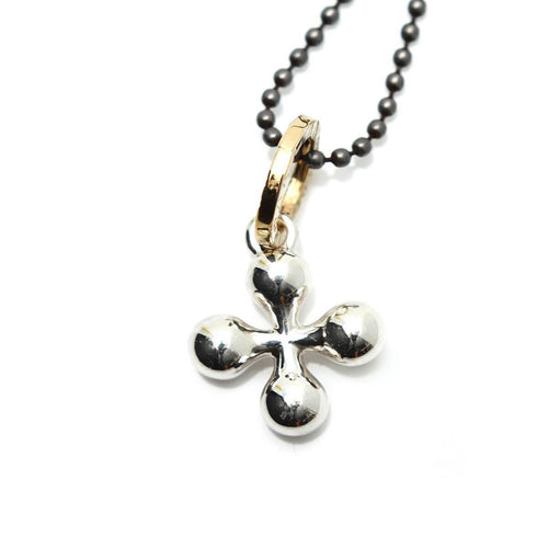 Totem and Man Four Pronged Symbol Pendant Silver ,[product vendor],JewelStreet