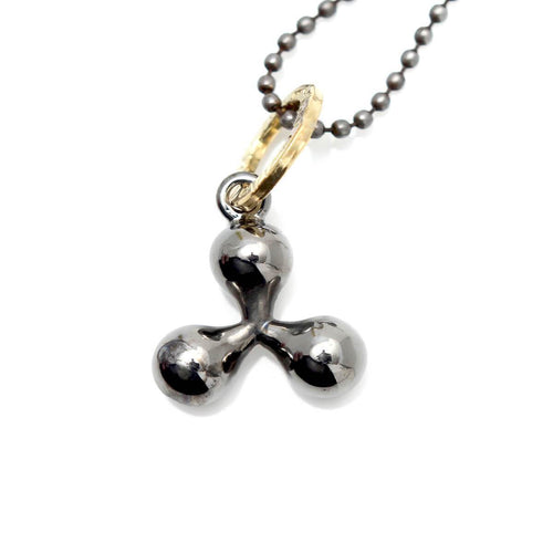 Totem and Man Three Pronged Symbol Pendant Black Rhodium Plated ,[product vendor],JewelStreet