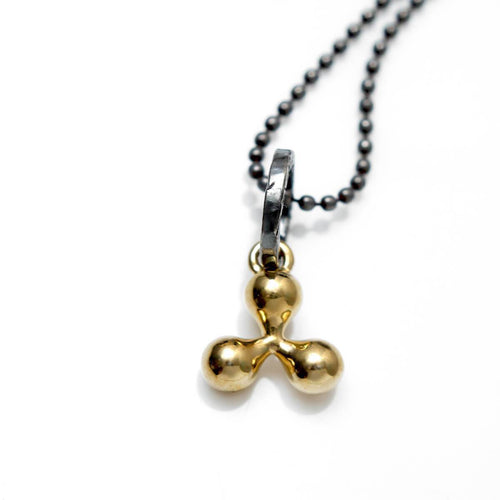 Totem and Man Three Pronged Symbol Pendant Gold Plated ,[product vendor],JewelStreet