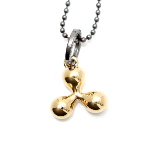 Totem and Man Three Pronged Symbol Pendant Gold Plated Alternative ,[product vendor],JewelStreet