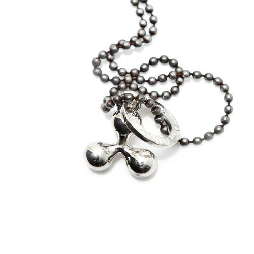 Totem and Man Three Pronged Symbol Pendant Silver ,[product vendor],JewelStreet