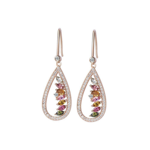 Tourmaline Empress Earrings-Earrings-H.Azeem-JewelStreet