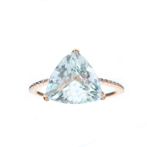 Trillion Cut Aquamarine Ring-Rings-Oh my Christine Jewelry-JewelStreet