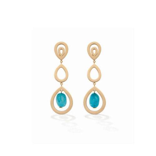 Turquoise Pyrus Earrings-Earrings-Robinson Pelham-JewelStreet