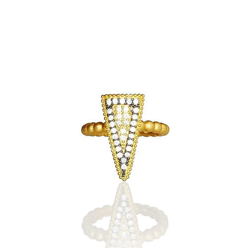 Two Tone Pave Slice Ring ,[product vendor],JewelStreet