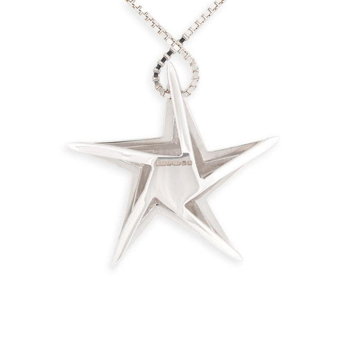 A Personal Star White Gold Pendant-Necklaces-Daou Jewellery-JewelStreet