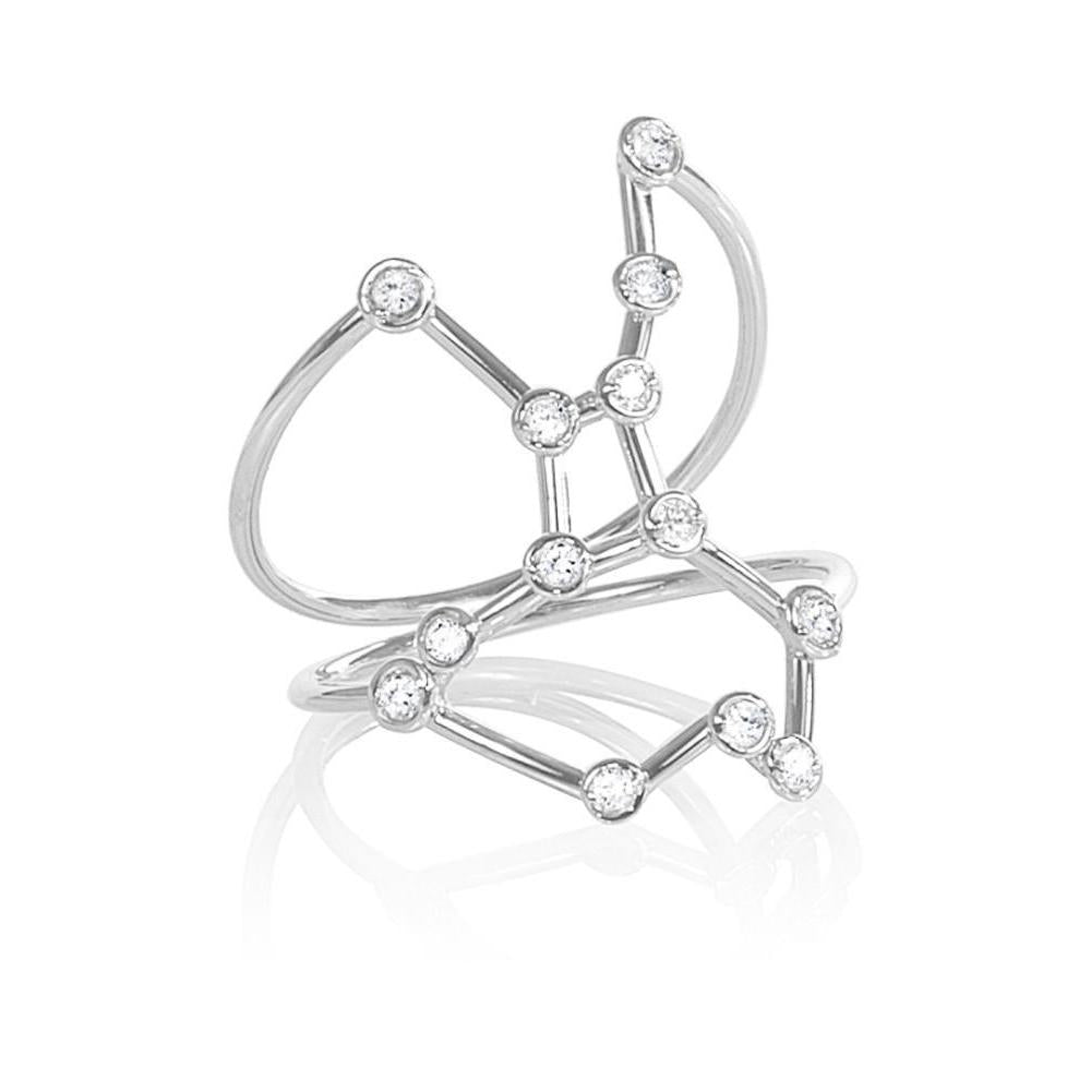Jessie V E White Gold Virgo Star Sign Constellation Ring - UK I - US 4 1/4 - EU 47 3/4 wcwejt