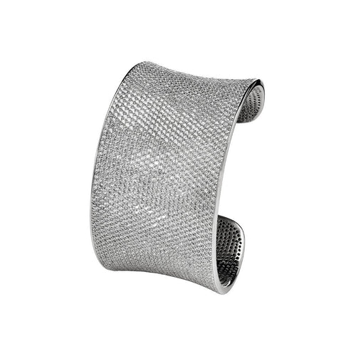 White Lustre Cuff-Bracelets-Lustre of London-JewelStreet