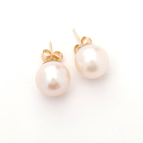White Pearl Earrings-Earrings-Oh my Christine Jewelry-JewelStreet