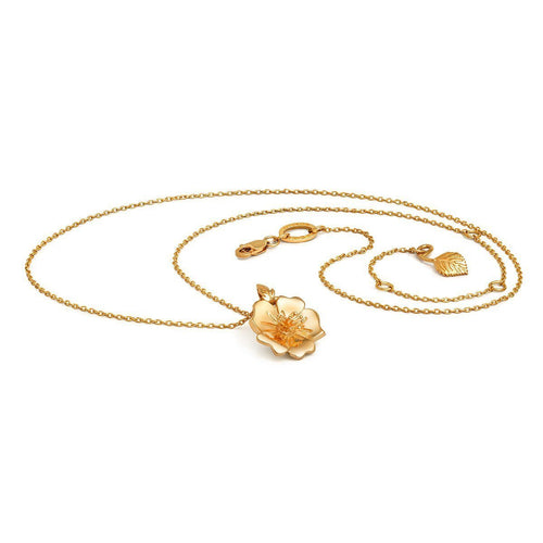 Wild Rose Necklace Gold-Necklaces-Liz Earle Fair and Fine-JewelStreet