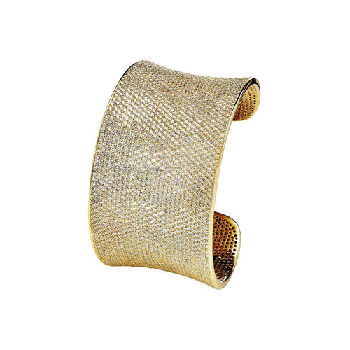 Yellow Lustre Cuff-Bracelets-Lustre of London-JewelStreet