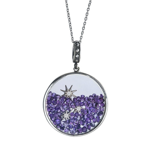 Your Favorite Stone With Floating Stars-Necklaces-WYS-JewelStreet