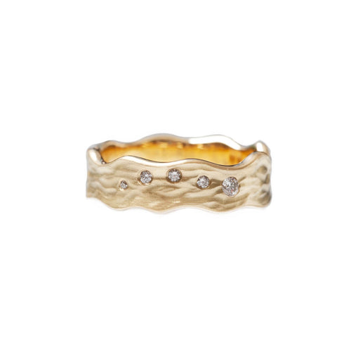 18kt Yellow Gold Ripple Ring ,[product vendor],JewelStreet