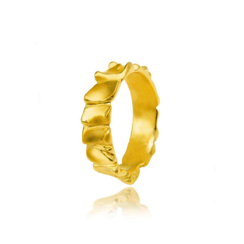 Gator Stack Ring Yellow Gold ,[product vendor],JewelStreet