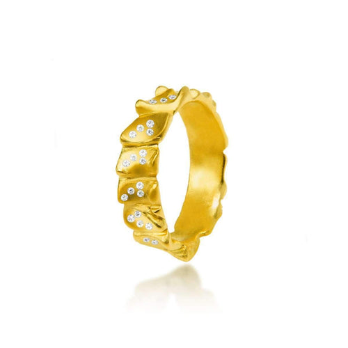 Gator Stack Ring With Diamonds ,[product vendor],JewelStreet