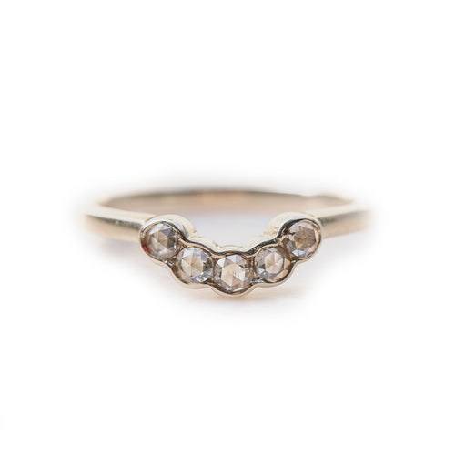 Diamond Arc Shaped Ring ,[product vendor],JewelStreet
