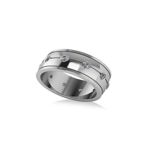 White Gold & Diamond Eternity Wedding Band | Allurez