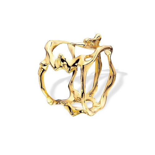 Open Flame Ring Yellow Gold ,[product vendor],JewelStreet