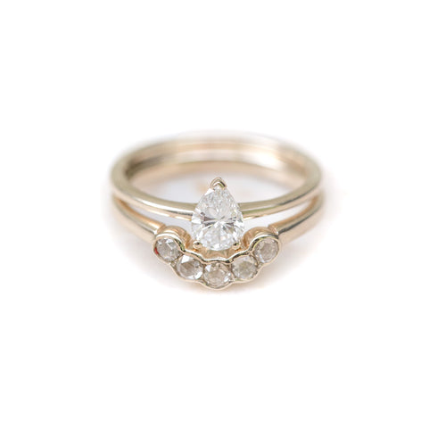 Pear & Diamond Arc Ring Set ,[product vendor],JewelStreet