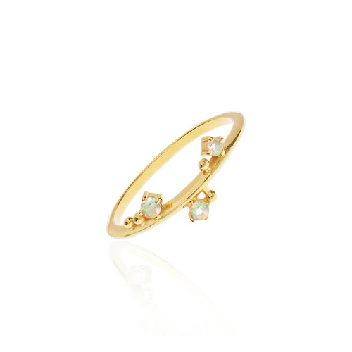 18kt Yellow Gold Vermeil 3 Wishes Moonstone Ring