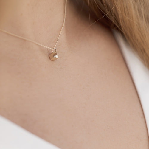 Gold Mini Kin Faceted Pendant Necklace ,[product vendor],JewelStreet