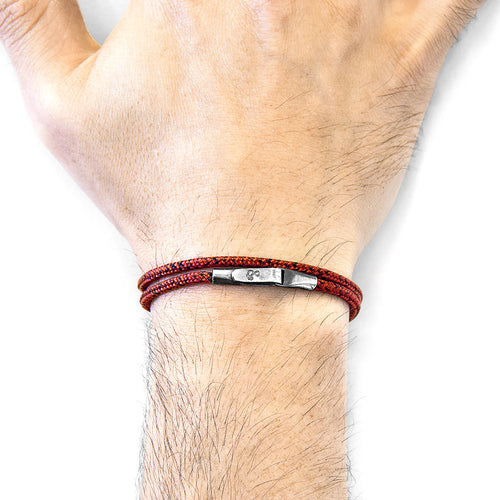 Red Noir Liverpool Silver and Rope Bracelet ,[product vendor],JewelStreet